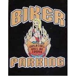 "Знак металлический ""Biker parking"""