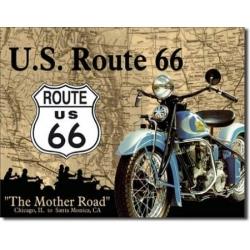 """Знак металлический """"US Route 66"""" 42 х 33 см."""
