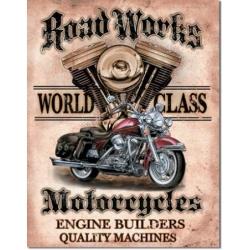 """Знак металлический """"Road Works"""" 42 х 33 см."""