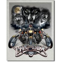 """Знак металлический """"Live to Ride"""" 42 х 33 см."""