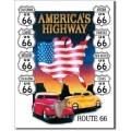 """Знак декоративный металлический """"American Highway"""""""