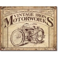 """Знак декоративный металлический """"Vintage Iron Motorworks"""""""