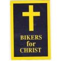 "Магнит на машину, мотоцикл ""Байкеры за Христа"" 15,5 х 10,5 см"