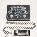Кожаный бумажник на цепочке