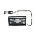 """Кожаный бумажник на цепочке """"Harley Davidson"""""""
