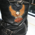 Кожаные сапоги Harley Davidson, размер 42.