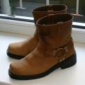 Кожаные байкерские ботинки р.42