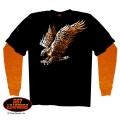 """Утепленная футболка с длинными рукавами """"Атакующий Орел"""""""