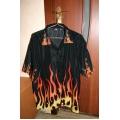 Рубашка с пламенем, размер XL