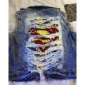 """Джинсовый жилет """"Супермен"""", размер L"""