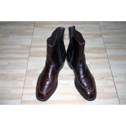 Кожаные ботинки - казаки