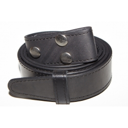 Ремень кожаный прошитый (черный)