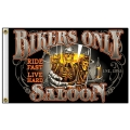 "Флаг ""BIKERS ONLY SALOON"""