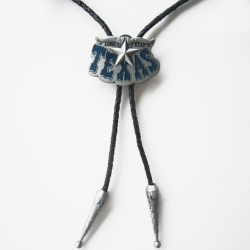 "Галстук Боло ""Звезда Техаса"", синяя эмаль"
