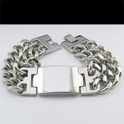 Массивный байкерский браслет