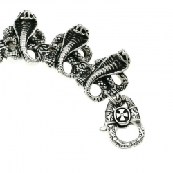 Стальной браслет со змеями