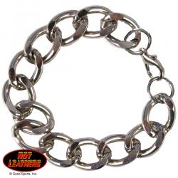 Хромированный байкерский браслет