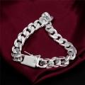 Классический браслет с серебряным покрытием