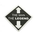 "Пряжка на ремень ""The man-the legend"""