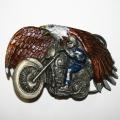 """Пряжка """"Мотоцикл и орел"""""""