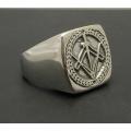 Серебряный масонский перстень