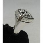 Серебряный рыцарский перстень