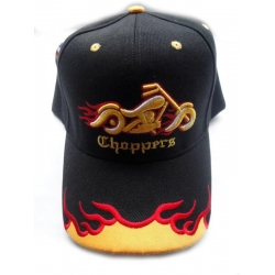 "Бейсболка байкерская ""Choppers"", черная"