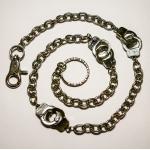 Цепь на джинсы с наручниками для бумажника/ключей Amigaz
