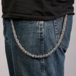 Цепь на джинсы для бумажника / ключей, византийское плетение