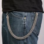 Цепь на джинсы для бумажника / ключей, плетение питон
