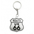 """Брелок для ключей """"Route 66"""" двухсторонний"""