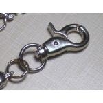 Массивная цепь для бумажника/ключей с черепами