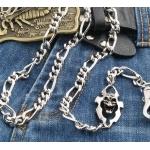 Цепь на джинсы для бумажника/ключей с черепом