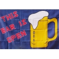 "Флаг ""This bar is open"" 150 х 90 см."