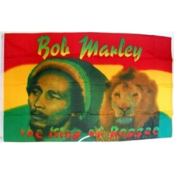 "Флаг ""Боб Марли - Король Регги"" 150 х 90 см."