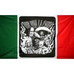 """Мексиканский флаг """"Que viva la causa"""" 150х90 см."""
