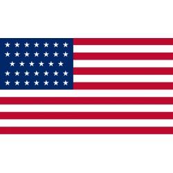 """Флаг США """"34 звезды"""""""