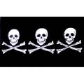 """Пиратский флаг """"Три черепа"""""""