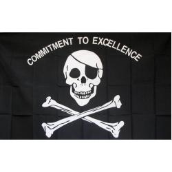 """Пиратский флаг """"Commintment to excellence"""" 150 х 90 см"""