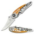 Байкерский нож с V-TWIN, оранжевый