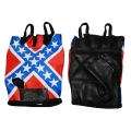 """Перчатки кожаные """"Флаг конфедерации"""""""
