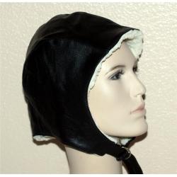 Кожаный летный шлем на меху