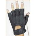 Кожаные перчатки с перфорацией #607