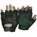 Кожаные перчатки с сеткой #609