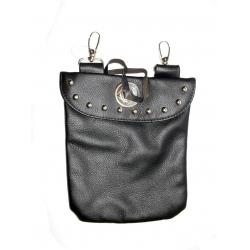 Кожаная сумка на пояс/плечо #506