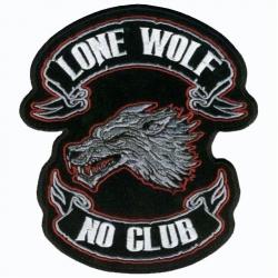 "Нашивка ""Lone wolf no club"", 12 х 10 см."