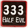 "Нашивка ""333 - дьявол наполовину"""