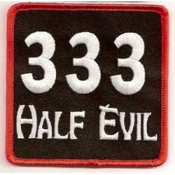 "Нашивка ""333 half evil"""