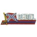 """Нашивка """"Rebel"""" 8 х 2 см"""