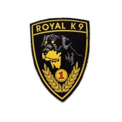 """Нашивка """"Royal K9"""" 11х8 см"""